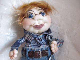 Мастер-класс по барельефной текстильной кукле. Кукла - картина