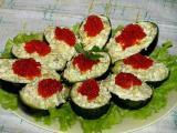 Салат с авокадо и красной икрой