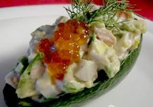 Рецепты закусок и салатов с красной икрой