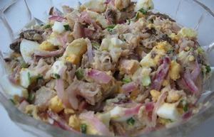 рецепты салатов с горчичным соусом