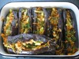 Баклажаны солёные, фаршированные овощами