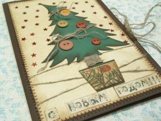 Новогодняя открытка «Елочка»