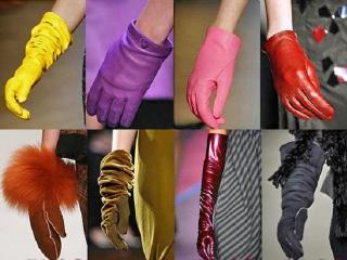 Кожаные перчатки. Модные женские аксессуары