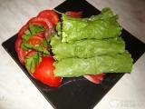 Салатные рулеты с зеленью и грецкими орехами